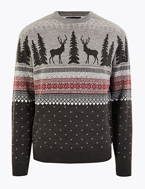 Christmas Stag Knitted Jumper