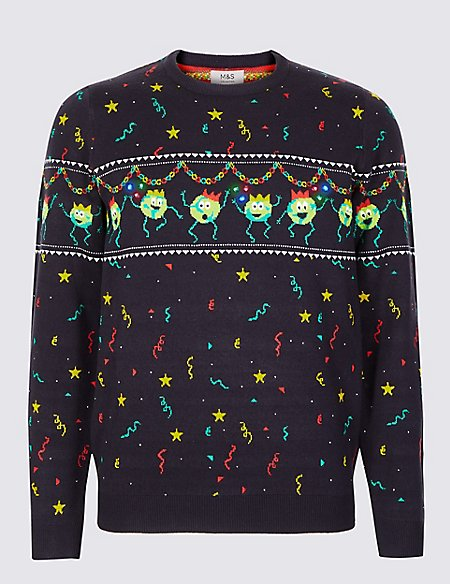 Brussel Sprouts Christmas Jumper with Lights