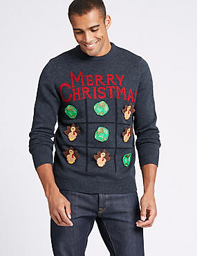 Christmas Jumper with Interactive Game, RED MIX, catlanding