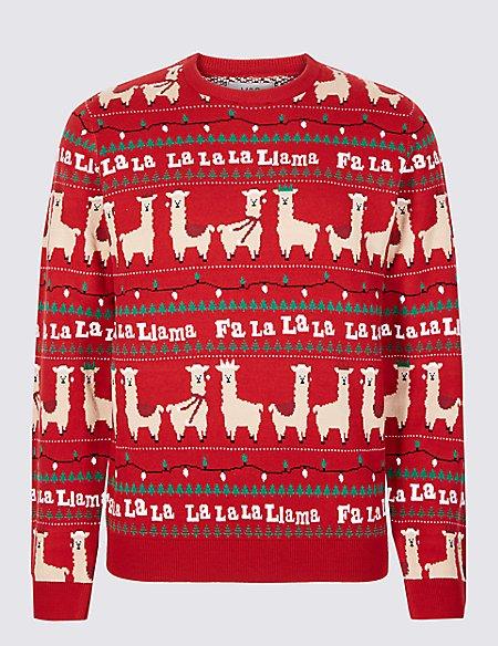 Falala Lama Christmas Jumper