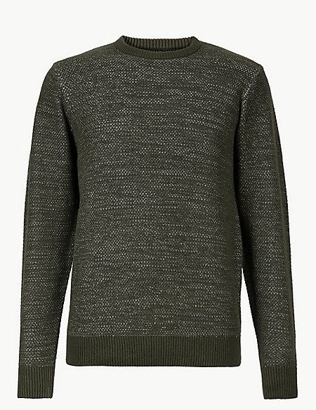 Pure Cotton Two Tone Jumper