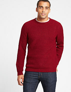 Supersoft Ribbed Jumper, RED, catlanding