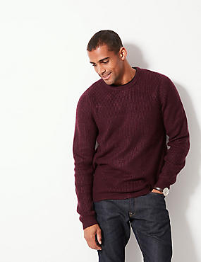 Supersoft Ribbed Jumper, BERRY, catlanding