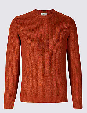 Supersoft Ribbed Jumper, DARK ORANGE, catlanding