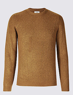 Supersoft Ribbed Jumper, MUSTARD, catlanding