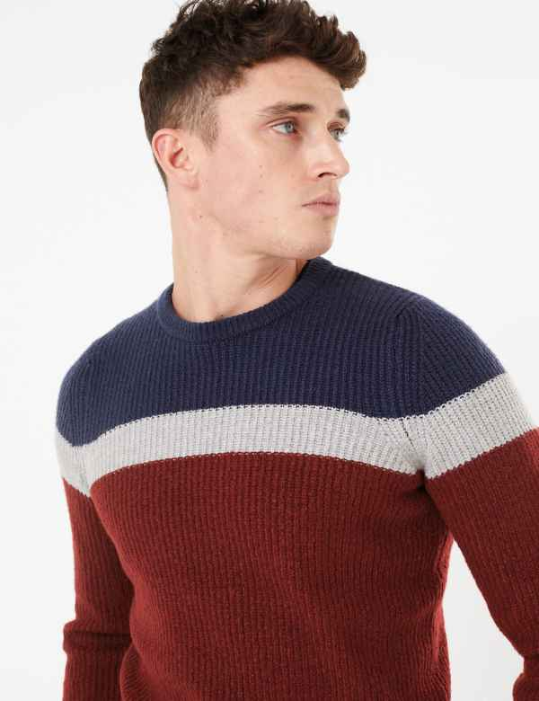 M/&S MENS JUMPER Crew Neck Cotton Blend PULLOVERS SWEATERS Marks /& Spencer MEN/'S