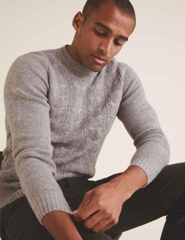 Long sleeve Men's Jumpers & Cardigans | Half Zip Jumpers | M&S