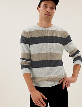 Jersey de rayas muy suave con escote cerrado