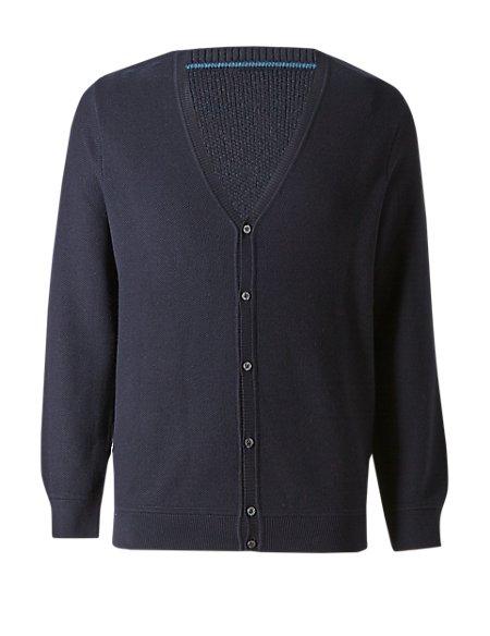 Cotton Blend Tailored Fit Jumper