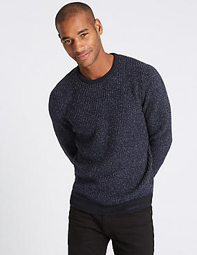Texture Slim Fit Jumper