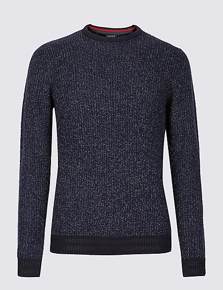 Textured Marl Slim Fit Jumper