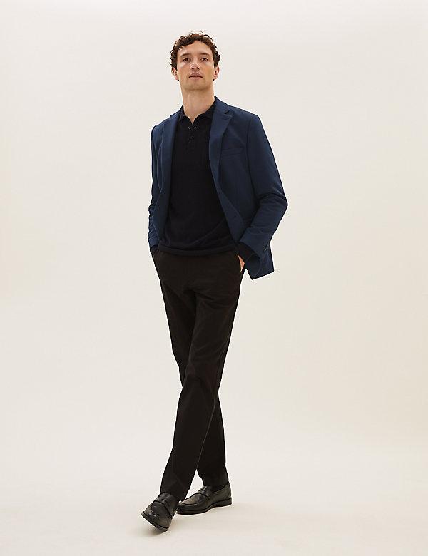 Slim Fit Cotton Jersey Blazer
