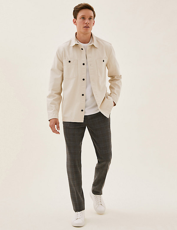 Slim Fit Check 360 Flex Trousers