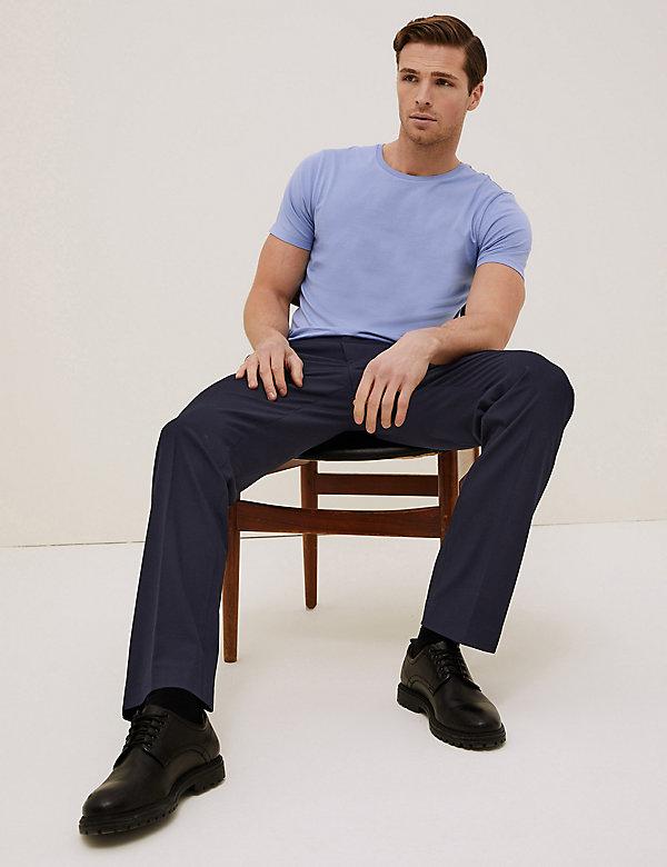 Pantalon coupe standard à taille élastique avec flexibilité 360degrés