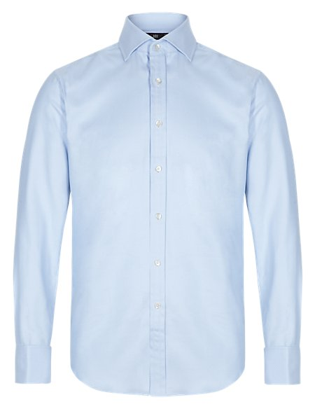 Best of British Pure Cotton Tailored Fit Shirt
