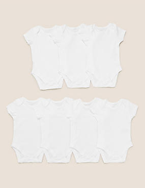 7 Pack Organic Pure Cotton Bodysuits