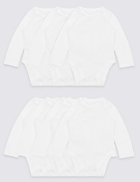 7 Pack Pure Cotton Bodysuits (5lbs-3 Yrs)