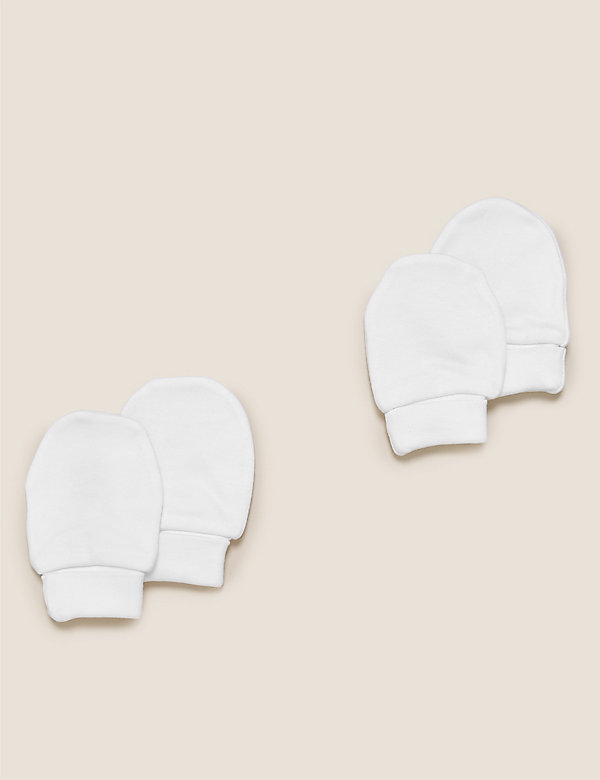 2er-Pack Handschühchen aus reiner Baumwolle (0–12 Monate)