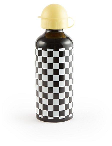 Kids' Chequerboard Print Water Bottle
