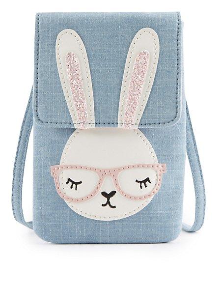 Kids' Pure Cotton Bunny Cross Body Bag
