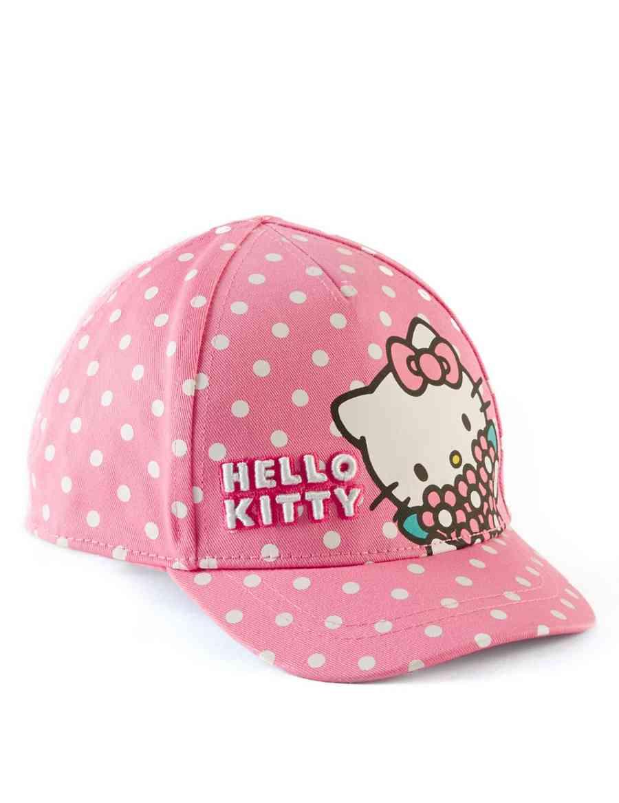 Kids' Hello Kitty Pure Cotton Peak Cap | M&S