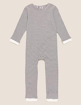 Adaptive – Gestreifter Schlafanzug aus reiner Baumwolle (3–16 Jahre)