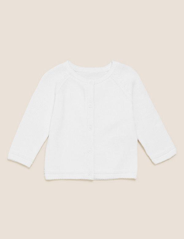 Strickjacke aus Bio-Baumwolle (0–12 Monate)