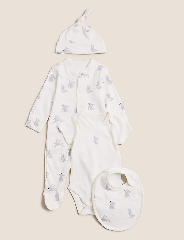 4pc Pure Cotton Bunny Starter Set (7lbs-12 Mths)