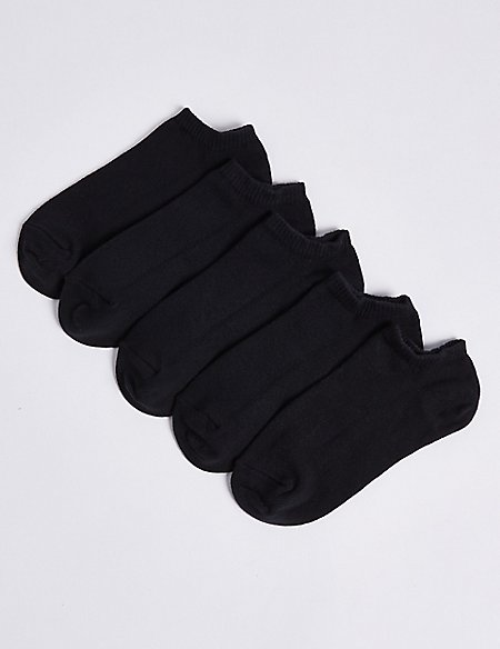 5 Pairs of Cotton Rich Trainer Liners (3-16 Years)