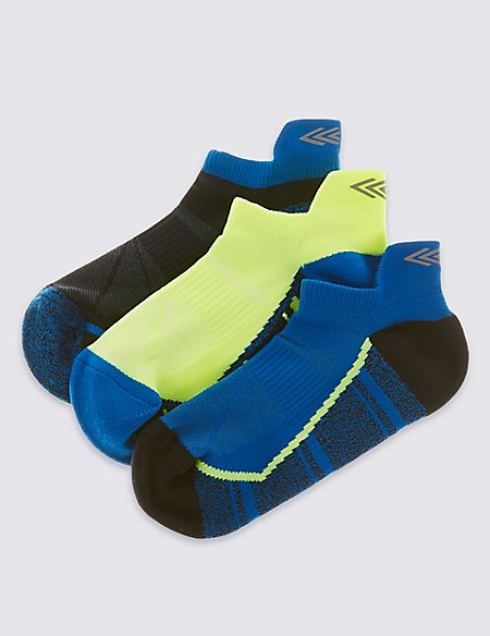 3 Pairs Patterned Trainer Liner Socks (5-14 Years)
