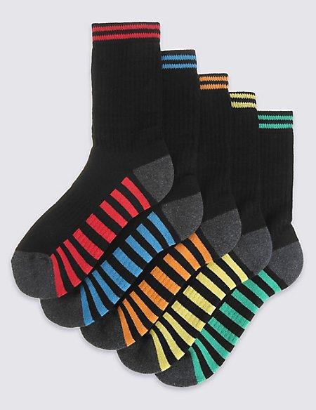 5 Pairs of Sports Socks (3-16 Years)