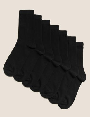 7 Pairs Of Ankle School Socks (3 16 Years) by Marks & Spencer