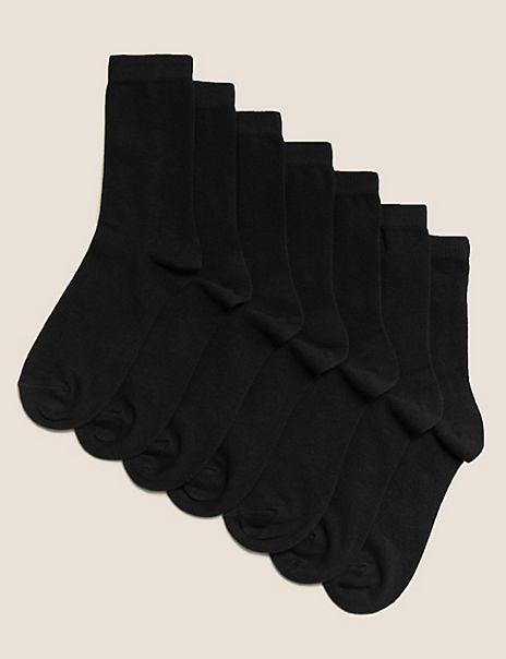 7 Pairs of Ankle School Socks