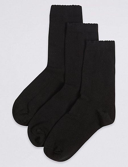 3 Pairs of Supersoft Ankle School Socks