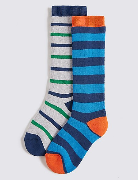 2 Pairs of Welly Socks (2-14 Years)