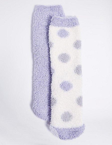 2 Pairs of Slipper Socks with Freshfeet™ (1-14 Years)