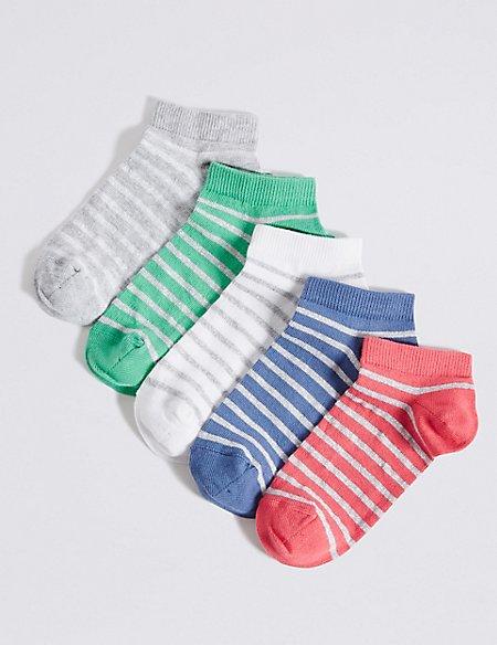 5 Pairs of Freshfeet™ Trainer Liner Socks (3-14 Years)