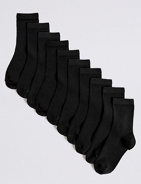 10 Pairs of Ankle School Socks