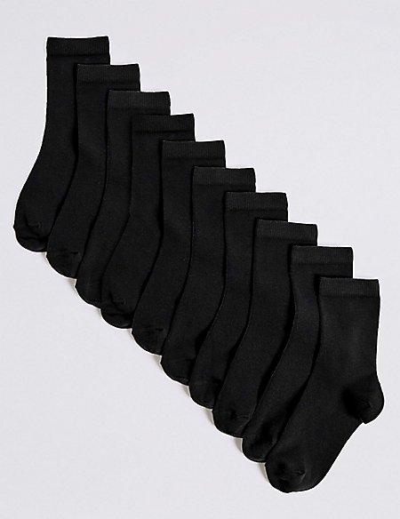10 Pairs of Ankle Socks (2-16 Years)