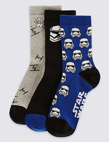 3 Pairs of Freshfeet™ Star Wars™ Socks (1-7 Years)