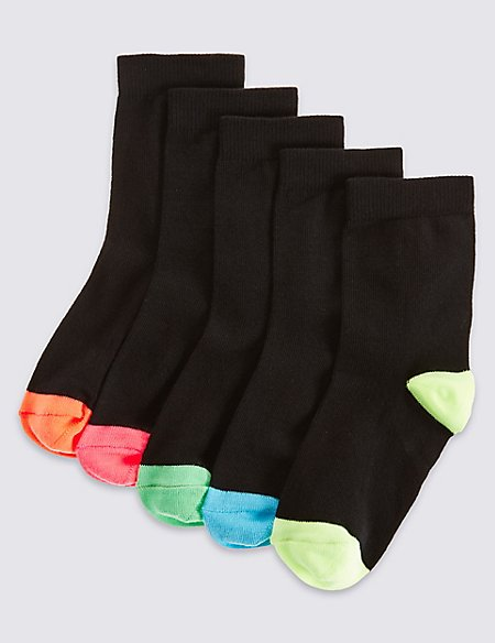 5 Pairs of Cotton Rich Socks (3-14 Years)