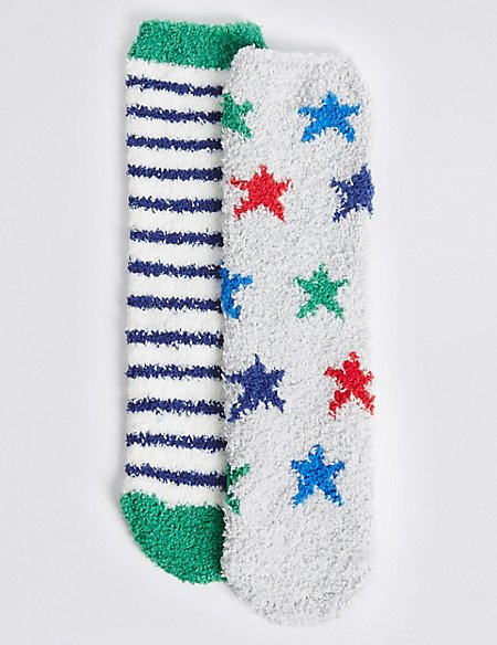 2 Pairs of Cosy Socks (1-14 Years)