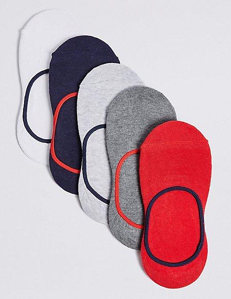 5 Pairs of No Show Socks (3-16 Years)