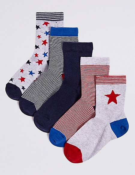 5 Pairs of Socks with Freshfeet™ (1-14 Years)