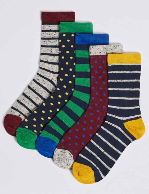 1335affc4 5 Pairs of Striped Socks