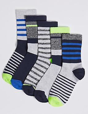 5 Pairs of Twist Socks (1-14 Years)