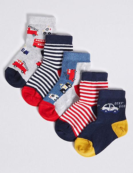 5 Pairs of Transport Socks