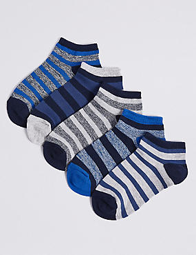 5 Pairs of Trainer Liner Socks (3-16 Years)
