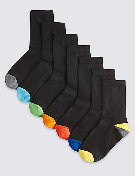 7 Pairs of Week of the Day Socks (1-16 Years)