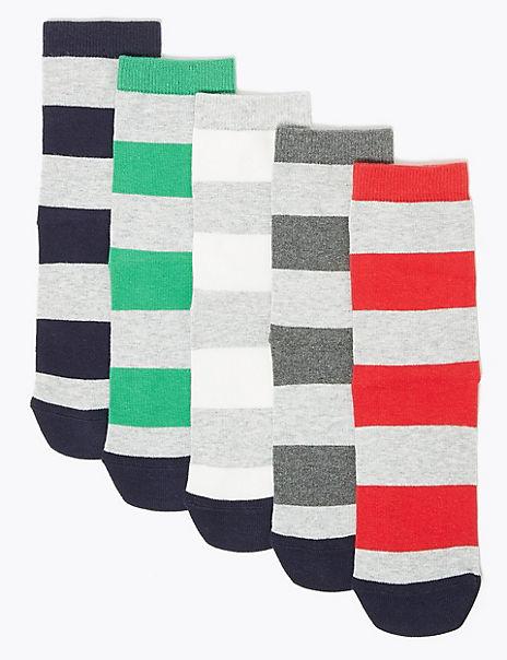 5 Pack of Striped Socks